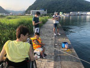 同僚の子供も参加した 釣りキャンプ